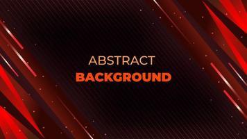 futuristische diagonale Form rotes und schwarzes Design vektor