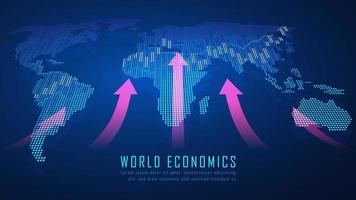 globala finansiella grafiska koncept