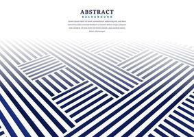 abstraktes blaues perspektivisches Linienmuster auf Weiß