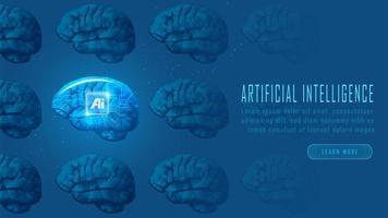 futuristiska ai-robot hjärnor koncept vektor