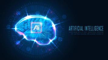 futuristisches ai Gehirnkonzept vektor