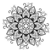 dekoratives Mandala-Design im Retro-Stil