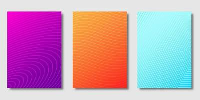 Satz von Farbverlaufsabdeckungen mit Linienmustern