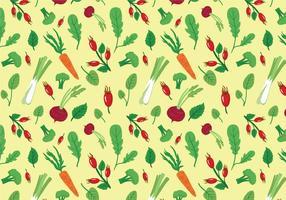 Gemüse & Kräuter Muster Vektoren