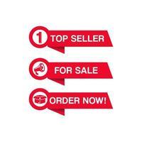 röd shopping och försäljning banneruppsättning vektor