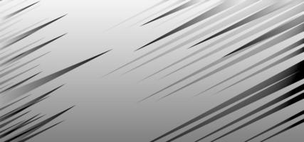 grau abgewinkelte Geschwindigkeitslinien Design vektor