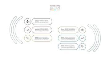 bunte Umrisskapsel Banner Infografik vektor