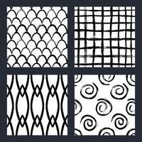 handgezeichnete Pinselstriche nahtlose Muster