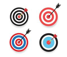 pilen träffar målsättningen vektor