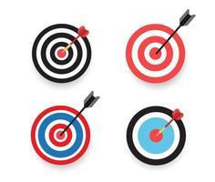 Pfeil trifft den Zielsatz vektor