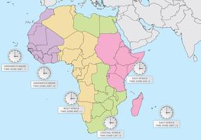 Afrika Zeitzonen vektor