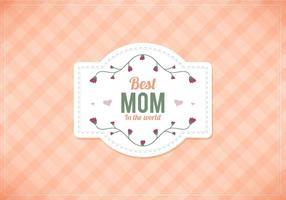 Gratis Vector Moms Peach Gingham Bakgrund