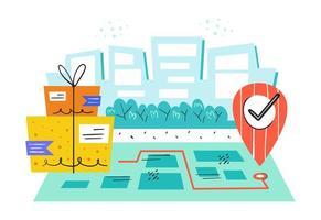 Design der sicheren Postfachzustellung vektor