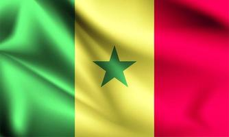 Senegal 3d Flagge vektor