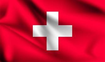 Schweiz Flagge weht im Wind vektor