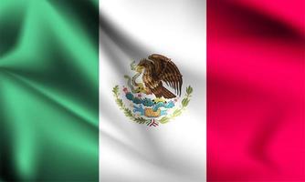mexikanska 3d-flaggan vektor