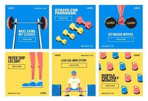 Fitness-Studio-Vorlagen