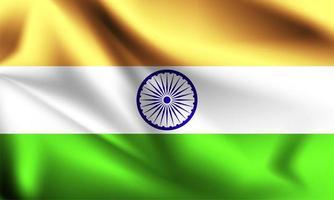 Indien 3d Flagge vektor