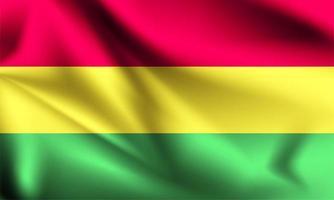 Bolivien 3d Flagge vektor