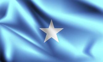 Somalia 3d Flagge vektor