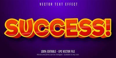 framgång röd orange komisk stil redigerbar text effekt