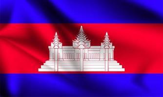 Kambodscha 3d Flagge vektor
