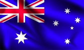 australien 3d flagga