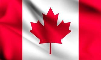 Kanada 3d flagga vektor