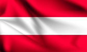 österrike 3d flagga