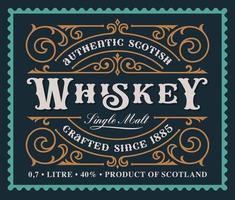 ein Vintage Alkohol Label Design vektor