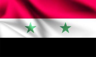 Syrien flagga på nära håll vektor