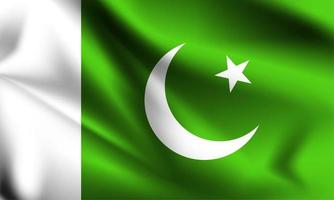 Pakistan 3d Flagge vektor