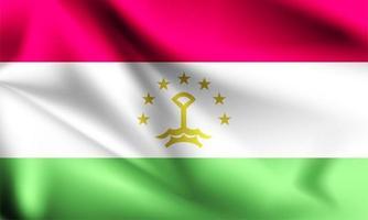 Tadschikistan 3d Flagge vektor
