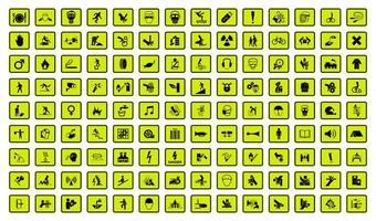 Warngefahren Symbole kennzeichnen Zeichen vektor