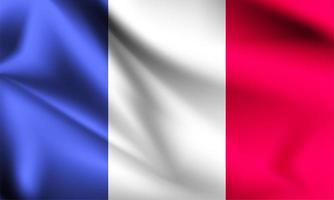 france 3d flagga vektor