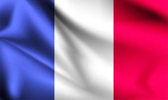 Frankreich 3d Flagge vektor