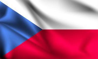 Tjeckien 3d flagga vektor