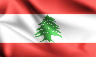 Libanon 3d flagga vektor