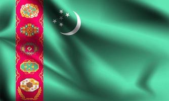 turkmenistan 3d flagga vektor