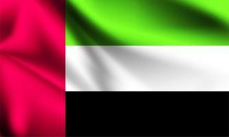 Flagge der Vereinigten Arabischen Emirate vektor