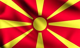 mazedonische 3d Flagge vektor