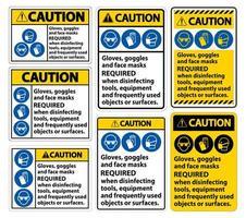 Vorsicht Gesichtsmasken erforderlich Zeichen