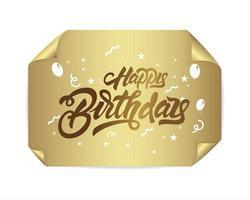 Grattis på födelsedagen i bokstäver stil
