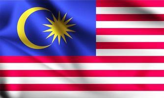 malaysische 3d flagge vektor