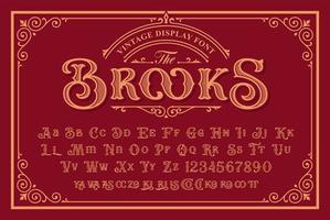ett vintage typsnitt i viktoriansk stil