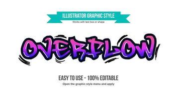 lila Graffiti-Tag vektor