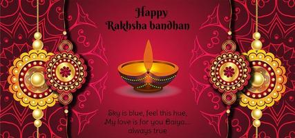 glad raksha bandhan festival ren bakgrund vektor
