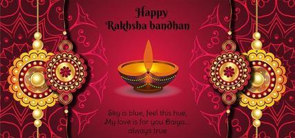 glücklicher Raksha Bandhan Festival sauberer Hintergrund vektor