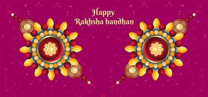 glücklicher baksha bandhan bunter Hintergrund vektor