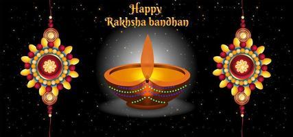 glücklicher Raksha Bandhan feiert abstrakten Hintergrund vektor